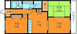 センチュリーアスカ3[5階]の間取り