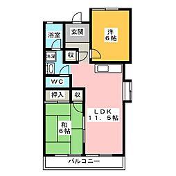 草冠舎[2階]の間取り