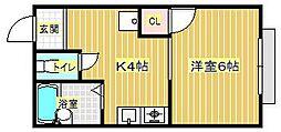 コーポラス槌屋[2階]の間取り