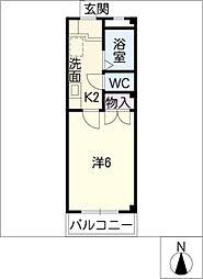 シャトー21[2階]の間取り