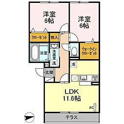 仮)D-room戸田[102号室]の間取り