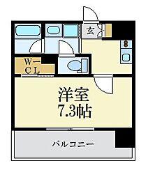 LANDIC 美野島3丁目 13階1Kの間取り