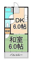 スケカワコーポ[303号室]の間取り
