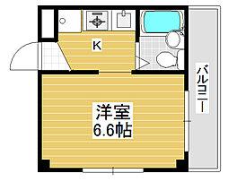 ハイツファミール[3階]の間取り