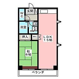 シャトーマグロ[2階]の間取り