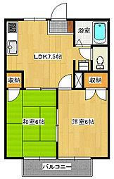 サマックスエダノA103[1階]の間取り