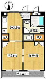 第3ラフィーネ[3階]の間取り