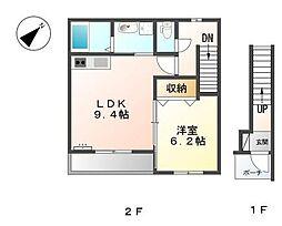 M&M'sアサギリ[2階]の間取り