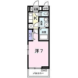 東京都八王子市加住町1丁目の賃貸アパートの間取り