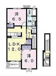 ビルファーレMK[2階]の間取り