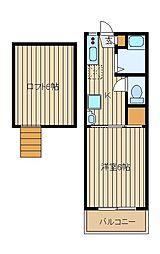 メゾンアモール[2階]の間取り