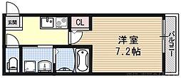 セレーネナゴミ 3階1Kの間取り