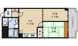 江戸堀アーバンライフ[4階]の間取り