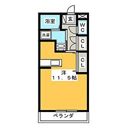 ボナール・キク[1階]の間取り