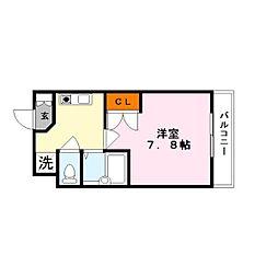 ハイツ宮の森2番館[1階]の間取り