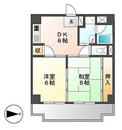 パティオ新栄[3階]の間取り