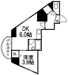ライオンズシティ円山[401号室]の間取り