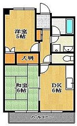 メゾン竹内[8階]の間取り