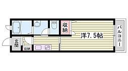 兵庫県明石市北王子町の賃貸アパートの間取り