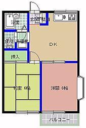 エントピア新井[206号室]の間取り