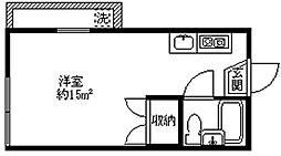 R HAKUSAN[205号室]の間取り