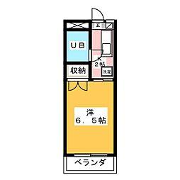 安田学研会館 乾棟[1階]の間取り