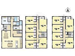 阪急千里線 北千里駅 バス7分 小野原南下車 徒歩5分の賃貸アパート 3階ワンルームの間取り