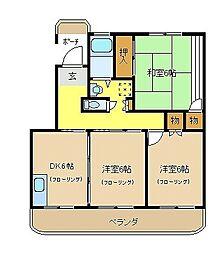 エトワール水澤[101号室]の間取り