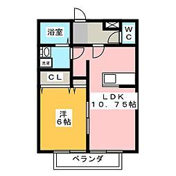 リリカ23[1階]の間取り