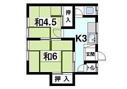 [テラスハウス] 奈良県生駒市谷田町 の賃貸【/】の間取り