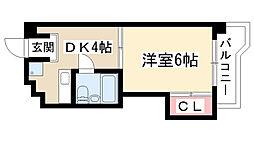 CASA NOAH名東[305号室]の間取り