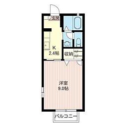 エーデル桜 A[1階]の間取り