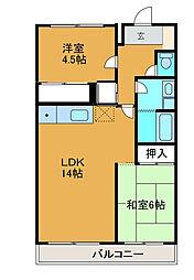 パークホームK[1階]の間取り