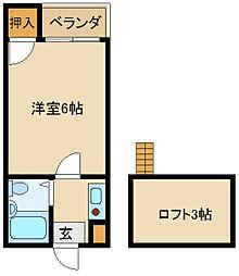 大阪府東大阪市五条町の賃貸マンションの間取り