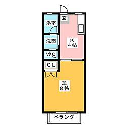 ローズガーデン III[2階]の間取り