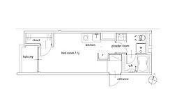 ノベルコート曳舟II[102号室]の間取り