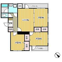 ソレイユ宮ノ上[1階]の間取り