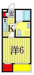 シェリエ幕張[1階]の間取り