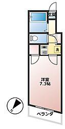 いちょうマンション[906号室]の間取り