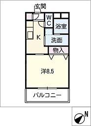茶花[1階]の間取り