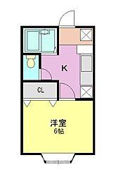 埼玉県朝霞市根岸台5丁目の賃貸アパートの間取り