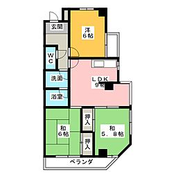 エクセル山田[4階]の間取り