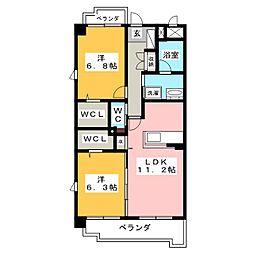 レ・セゾン・クレール[2階]の間取り