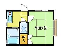 ハイツ松田[202号室]の間取り