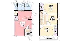 [テラスハウス] 兵庫県西宮市花園町 の賃貸【/】の間取り
