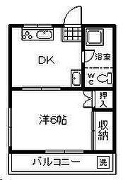 本口アパート[202号室]の間取り