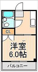 第3青山マンション[210号室]の間取り