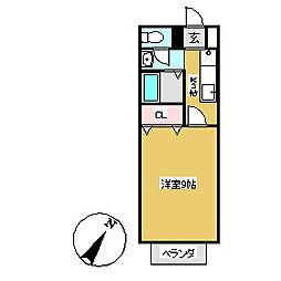 ピーシフルオサニB[105号室]の間取り