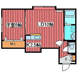 ボン・ロジメント[3階]の間取り