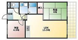 コスモグレイスI[3階]の間取り